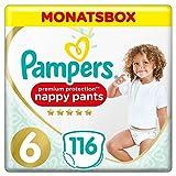 Pampers Premium Protection Pants, Gr. 6, 15+kg, Monatsbox (1 x 116 Höschenwindeln), Federweiche Höschenwindeln Für Einfaches Anziehen