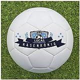 Fußball als Geschenk Personalisieren [Rasenkönig] - Fußball selbst gestalten und mit eigenem Text oder Namen Bedrucken Lassen