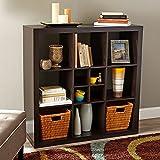 Better Homes and Gardens 9-Cube Versatile Organizer Storage Bookcase (Espresso)