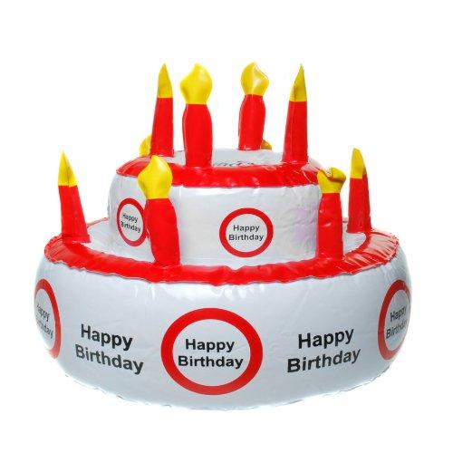 MIK Funshopping Aufblasbare Geburtstagstorte Happy Birthday