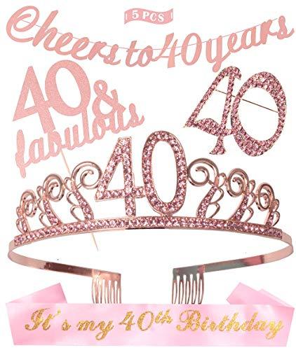 banda 40 cumpleaños fabricante DORADREAMDEKO