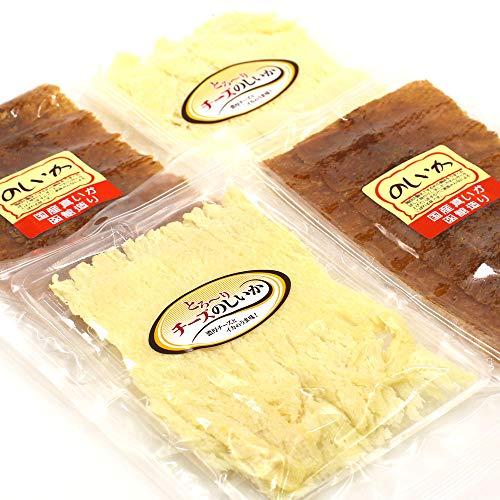 のしいか 珍味セット 4パック (チーズのしいか 70g 蜂蜜入り甘のしいか 45g) チーズいか×2 甘ダレいか×2 本仕込み のしいか 駄菓子