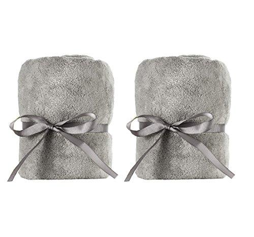 DevaCurl Microfiber Anti-Frizz Towel, Gray (2 Pack)