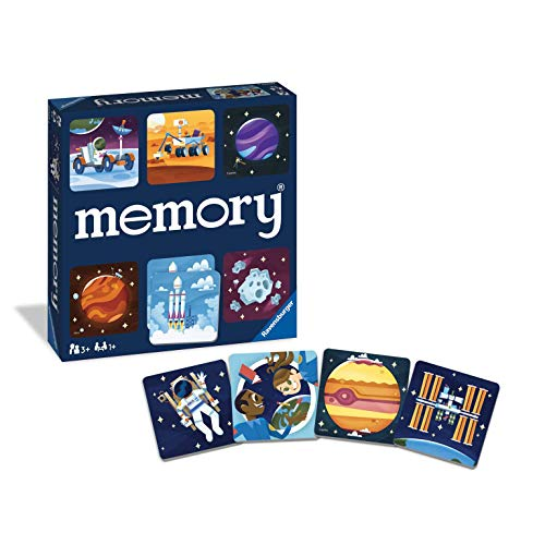 Ravensburger Space Memory Game for Boys amp Girls Age 3 amp Up  A Fun and Fast Cosmic Matching Game 20424