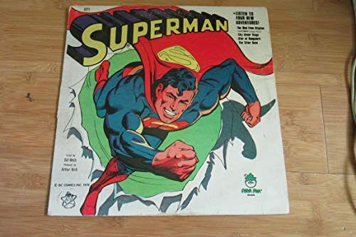 Superman 33/1/3 rpm vinyl LP, 'The Man from Krypton', 'City...