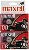 Maxell 108527 Optimally Designed Flat Packs with Low Noise Surface 90 Min Recording Time Per Cassette (2 pack)