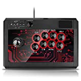 Multiplatform Arcade Fight Stick Widely Compatible with PS4, PS3, XBOX ONE, XBOX360 and PC, Android tablet (Not for IOS system),a perfect solution for the trouble of a dedicated machine which only support one particular device Enhance gaming experien...