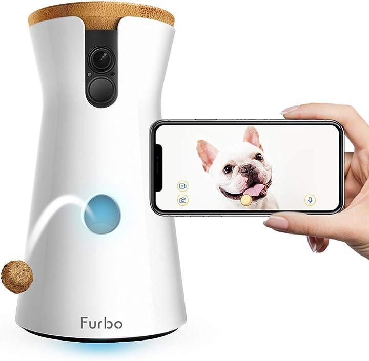 Videocamera per cani: telecamera hd wifi per animali audio bidirezionale visione notturna e lancio croccanti B01FXC7JWQ