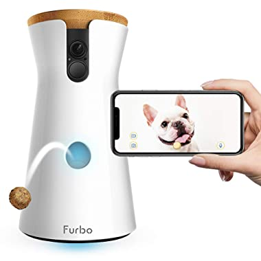 Furbo Dog Camera: Treat Tossing, Full HD Wifi Pet Camera and 2-Way Audio, Designed for Dogs, Compatible with Alexa (As Seen On Ellen), white (001-01WHTOA-1)