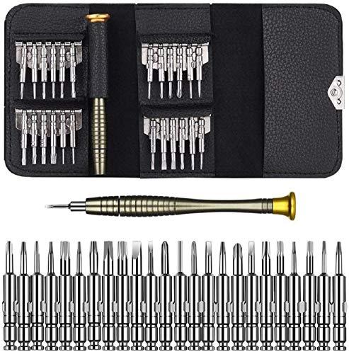 25 en 1 Destornilladores Precisión,Juego de Destornilladores,Herramientas Desmontar Kit de Reparación para Smartphone,PC,...
