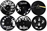 OUR CASA Coasters for Drinks | Vinyl Record Drink Coaster Set of 6 Coasters for Wooden Table, 4...
