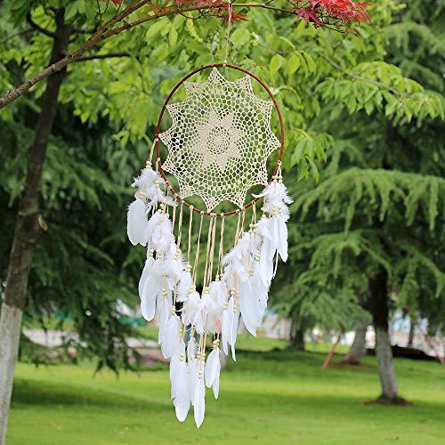 Atrapasueños hecho a mano grande bohemio atrapasueños para niños macramé decoración para colgar en la pared