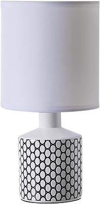 Lampe de chevet GISELE, lampe décorative céramique, modèle Perfo noir, ø 14 x H29 cm