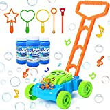 SIIFMVEOE Bubble Lawn Mower for Kids, Bubble Machine Toy Set Push Toys for Toddler, Outdoor Activity Walker Gardening Tools for Girl Boy Kids Outdoor Toys Gift