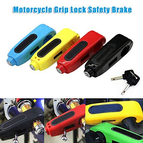 Keepbest Motorrad Grip Lock Sicherheit Scooter Lenker Sicherheitsbremse Schlösser blau