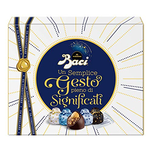 Baci Perugina Assortito Cioccolatini Assortiti Ripieni al Gianduia e Nocciola Intera Scatola Collection 200G