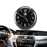 Mini reloj para el salpicadero de coche, luminoso, electrónico, de cuarzo, con adornos y con clip para la salida de ventilación