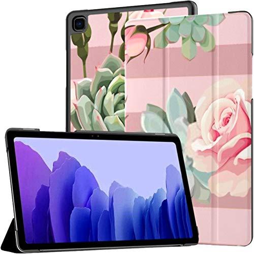 Custodia Per Samsung Galaxy Tab A7 10.4 Pollici Tablet 2020 (sm-t500   t505   t507), Piante grasse Rose Vector Seamless Pattern Floreale Ad angolazione multipla Copertura del supporto con Auto Wake