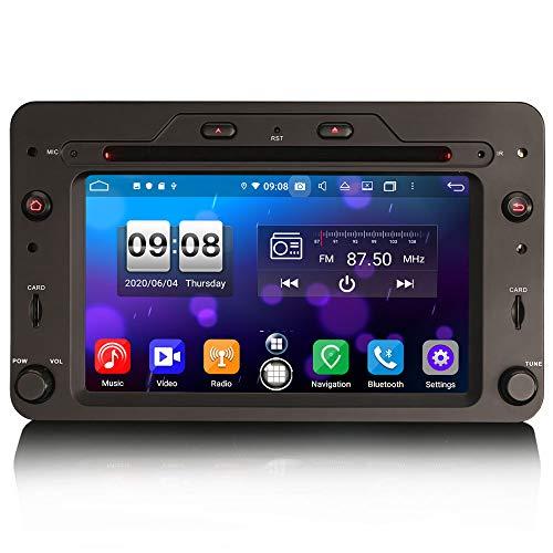 ERISIN 6.2 Pulgadas Android 10.0 Estéreo de Automóvil para Alfa Romeo Brera Spider 159 Sportwagon Soporte Carplay Android Auto DSP GPS Sat Nav Bluetooth WiFi Dab + TPMS 4GB RAM + 64GB ROM
