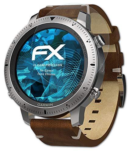 atFoliX Schutzfolie kompatibel mit Garmin Fenix Chronos Folie, ultraklare FX Bildschirmschutzfolie (3X)