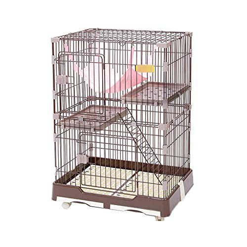 BFSHY Cat Cage Playpen Kennel Crate,Enclosure Kennel Cat Home,Deal for 1-2 Cats,Indoor Outdoor Small Animals Hutch,with Hammock Tray and Casters