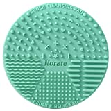 Brush Cleaning Mat ,Silicone Makeup Cleaning Brush Scrubber Mat Portable Washing Tool Cosmetic Brush Cleaner with Suction Cup for Valentines Day