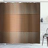 Cortina porosa industrial de la ducha del cuarto de baño de la rejilla de la impresión de tela de la decoración del hogar
