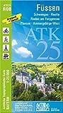 ATK25-R08 Füssen (Amtliche Topographische Karte 1:25000): Schwangau, Reutte, Rieden am Forggensee, Plansee, Ammergebirge-West, Neuschwanstein (ATK25 Amtliche Topographische Karte 1:25000 Bayern)