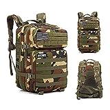 Mochila 45L Táctica Militar USA Impermeable para Crossfit Caza Aire Libre Deportes Gimnasio Portatil Oxford 900D (Original Camo)