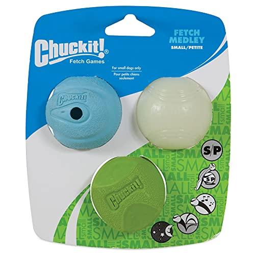 Chuckit! Fetch Medley Ensemble de 3 balles pour Chien