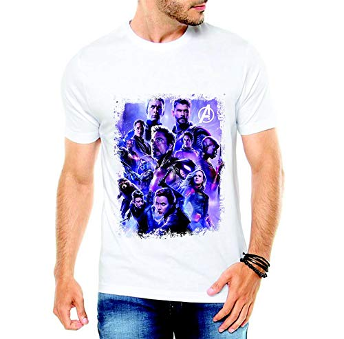 Camiseta Vingadores Ultimato Branca