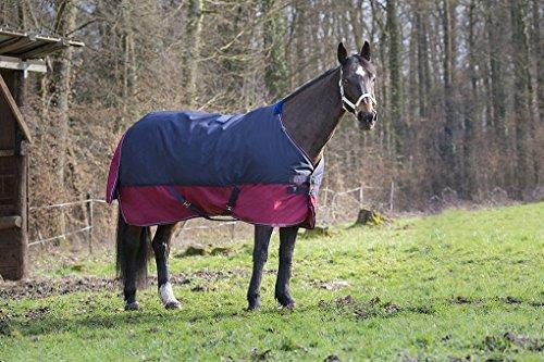 Reitsport Amesbichler Tyrex - Manta para caballo, 1200 denier, forro interior de nailon, impermeable, transpirable, correas cruzadas, etc. 155 cm