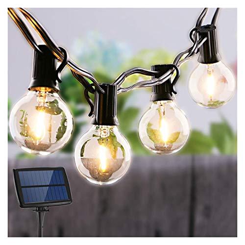Luces de cadena LED Bombilla de vidrio de energía solar Guirnalda eléctrica...