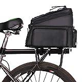 Ouskau - Alforjas para sillín de bicicleta, bolsa para bicicleta de montaña, bolsa multifuncional, resistente al agua