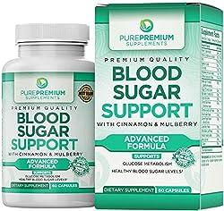 top 10 supplement for diabetes PurePremium (Non-GMO) premium glycemic support formulation promotes glucose metabolism, …