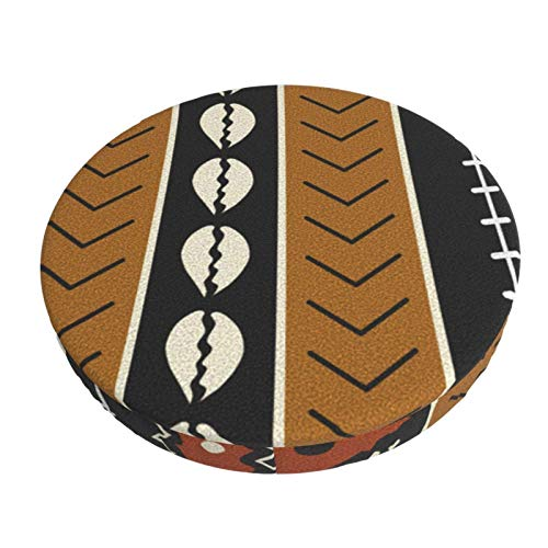 Round Bar Stools Cover,Lass Uns Mudcloth Spielen,Stretch Chair Seat Bar Stool Cover Seat Cushion Slipcovers Chair Cushion Cover Round Lift Chair Stool