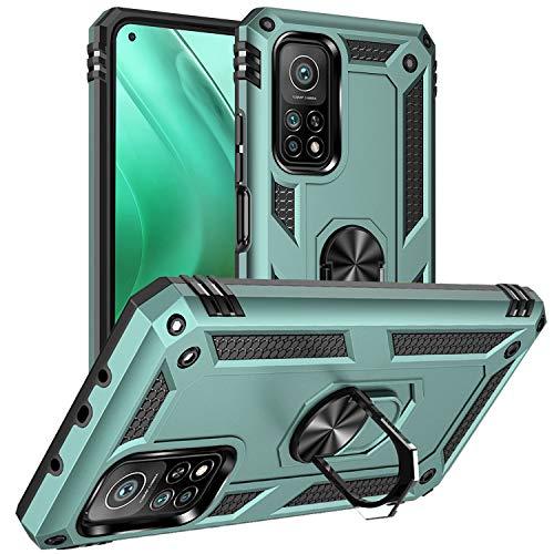 DAWEIXEAU Custodia Xiaomi Mi 10T / Mi 10T PRO 5G,Silicone Cover Armatura Antiurto Copertura Cassa Custodia per Xiaomi Mi 10T / Mi 10T PRO 5G (Verde Grigio)