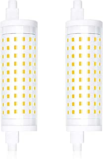 Bonlux R7s 118 mm LED regulable 15 W blanco cálido 3000 K, sustituye 150 W J118 lámpara de doble efecto lineal R7s halógena J-Type bombilla de seguridad lámpara de pared para pasillo (2 paquetes)