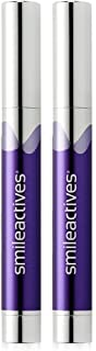 Smileactives – Advanced Teeth Whitening Pens – Hydrogen Peroxide Treatment – Duo Pack/Travel Size 0.11 Ounce Each (Ultramint)