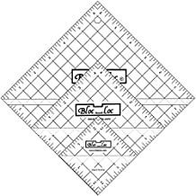 Bloc Loc - Half Square Acrylic Triangle Ruler Set #2, 2.5