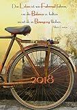 Kalender 2018 - »Das Leben ist wie Fahrrad fahren, um die Balance zu halten musst du in Bewegung bleiben.« (Albert Einstein): Wochenkalender - DIN A5 - Eine Woche pro Doppelseite