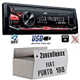 JVC KD-X141 - MP3 USB Autoradio - Android Steuerung - 4x50Watt - Einbauset für FIAT Punto 188 - JUST SOUND best choice for caraudio