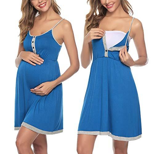 Sykooria Vestido de Mujer, Vestido de Lactancia camisón de