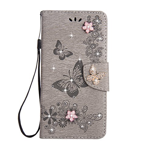 iPhone 6S Case [Free Tempered Glass Screen Protector],Mo-Beauty Bling...
