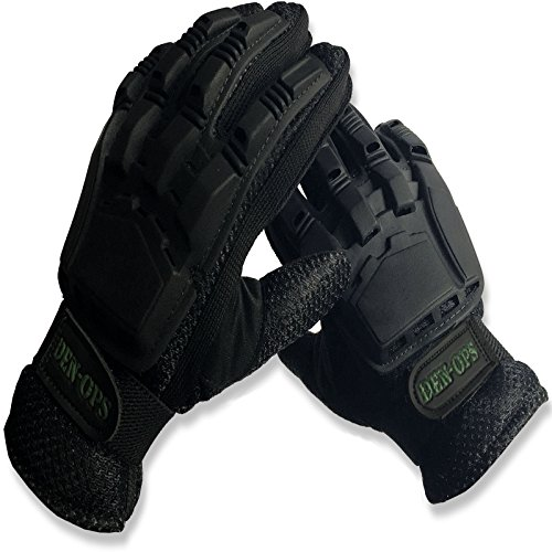 Deniable-Ops (Den-Ops) Paintball Gloves Close Contact Armoured Backed Flexible Plastic Armour...