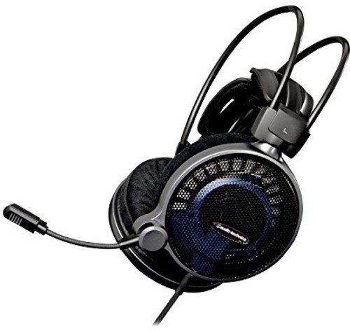 Audio-Technica ATH-ADG1X Auriculares, de Diadema, Micro Gaming, Color Negro