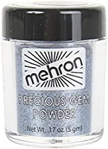 Mehron Precious Gem Glitter Powder 0.17 Oz | Silky, Bright Colors, Shimmering & Sparkling Loose Eyeshadow | For Face, Body & Nails | Add Intensity, Improve Looks & Create Dramatic Effect (Sapphire)