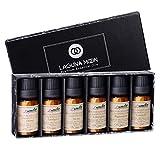 Lagunamoon Aceites Esenciales, Top 6 de Aceites de Aromaterapia de Lavanda, Eucalipto, Hierba de...
