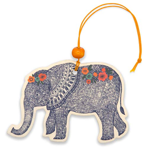 Car Air Fresheners by Studio Oh! - Pack of 2 Boho Elephant Scented Hanging Air Fresheners - Unique & Exclusive Fragrance with DeoBoost Odor Eliminator