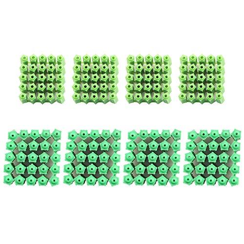 PSCCO 200pcs Green Plastic Masonry Screw Fixing Wall Anchor Drywall Plugs Anchors(6mm+8mm)